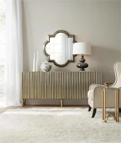 Hooker Furniture Living Room German Silver Console