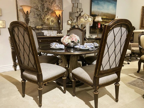 Marge Carson Ionia Round Dining Table + 5 Chairs Floor Sample