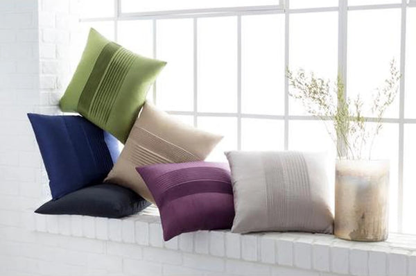 Surya Solid Pleated Pillows HH-019