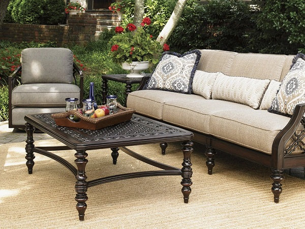 Tommy Bahama Outdoor Royal Kahala Black Sands Rectangular Cocktail Table