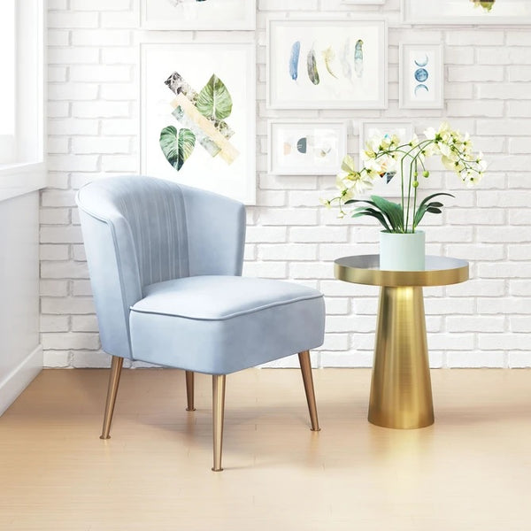 Zuo Andes Accent Chair Blue & Gold