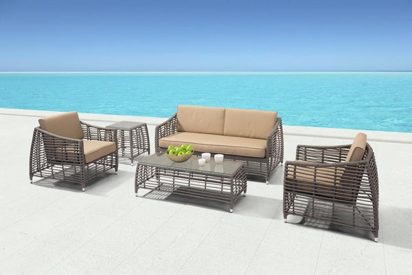 Zuo Trek Beach Sofa Gray & Beige