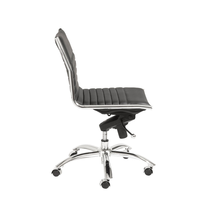 Euro Style Dirk Armless Low Back Office Chair