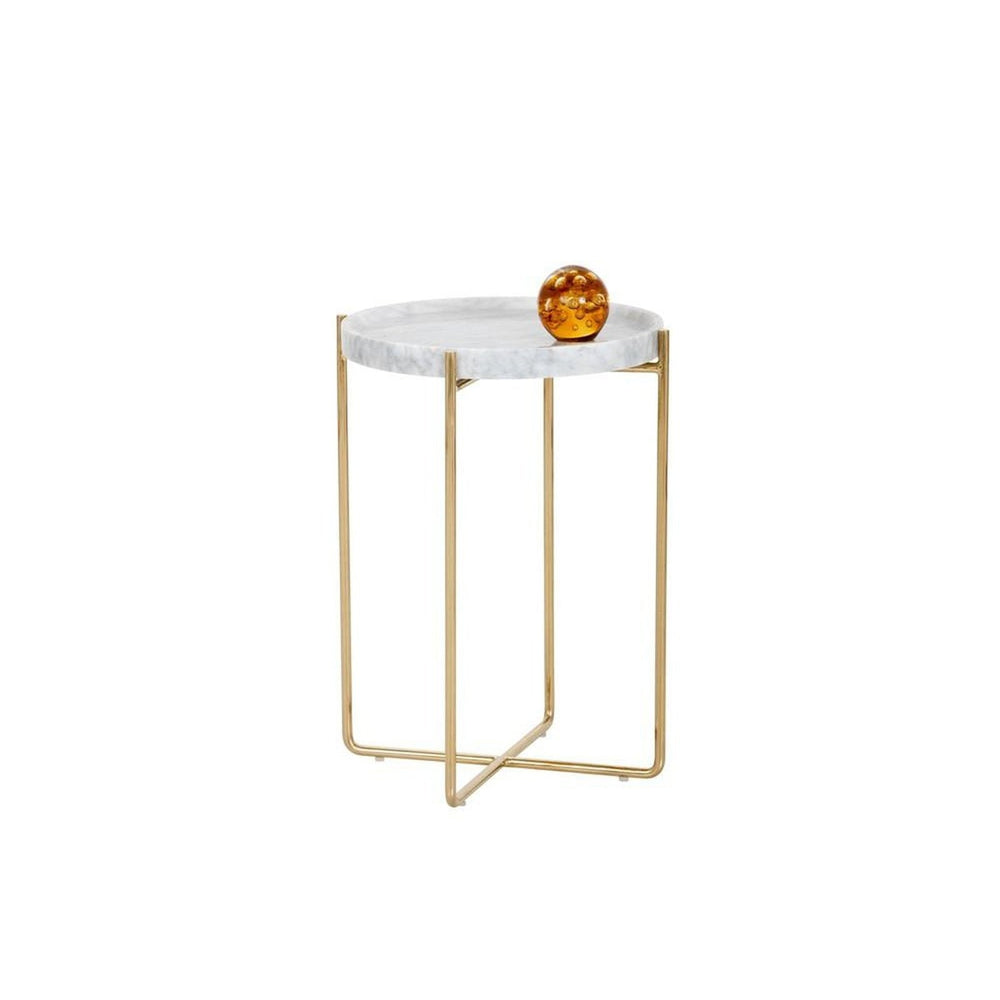 Sunpan Liv Side Table - White