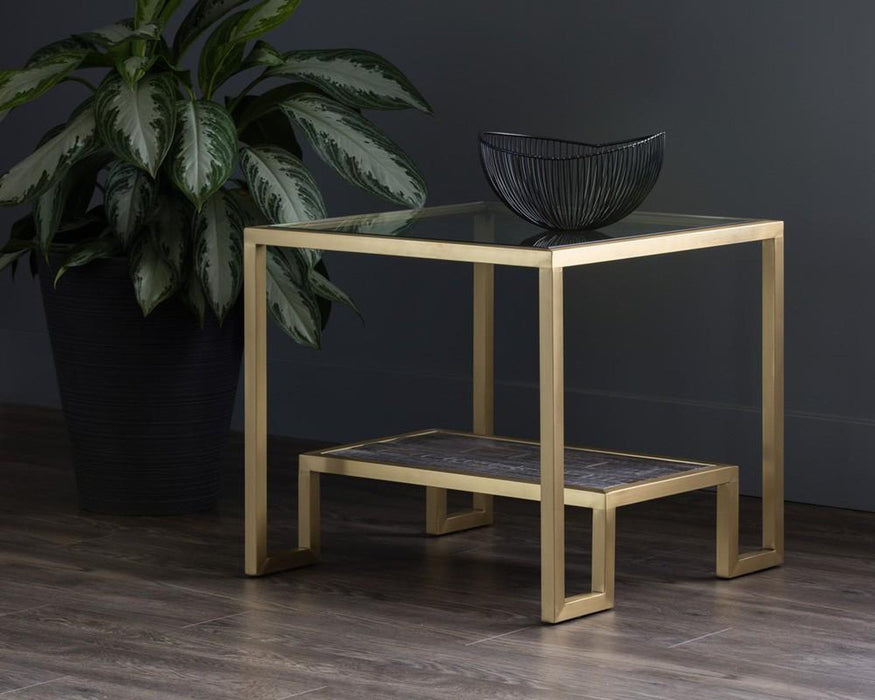 Sunpan Carver Side Table
