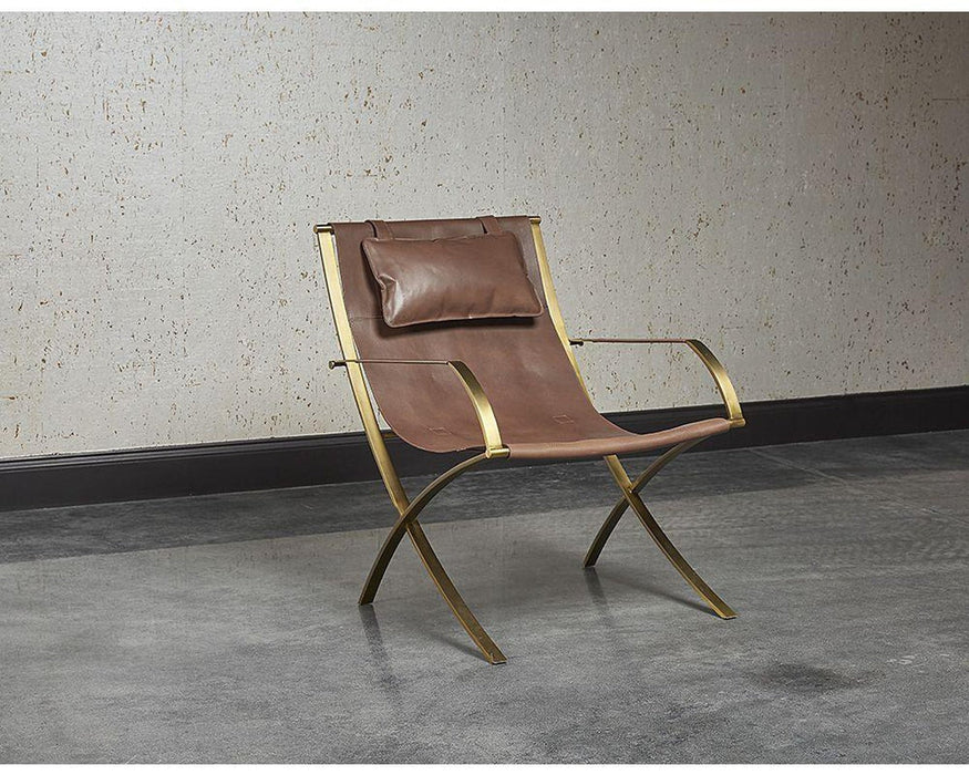 Sunpan Willis Chair - Brown