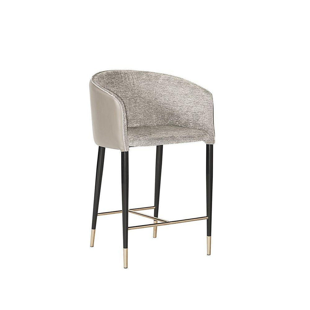 Sunpan Asher Counter Stool - Flint Grey / Napa Taupe