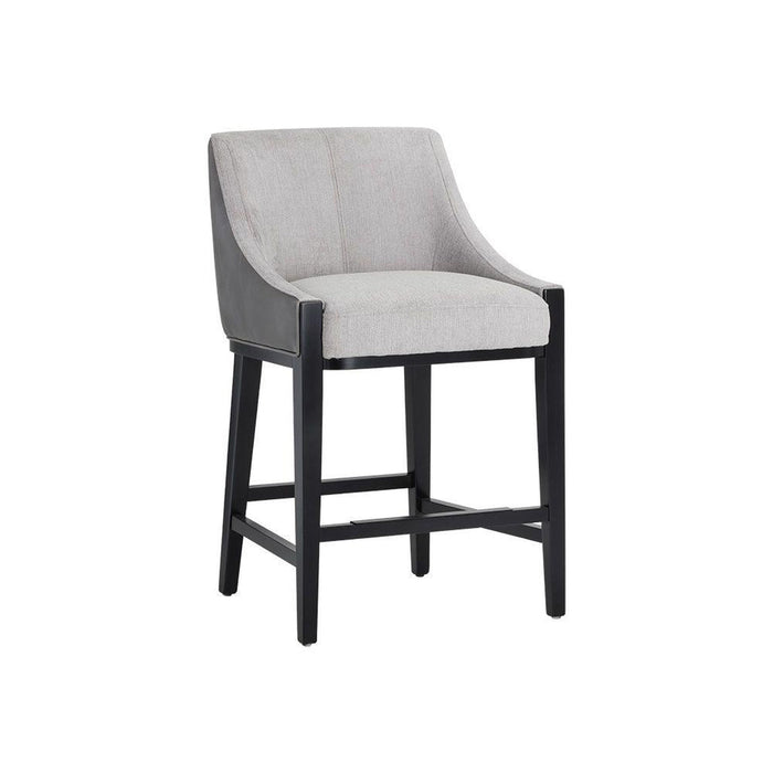 Sunpan Aurora Counter Stool - Polo Club Stone / Overcast Grey