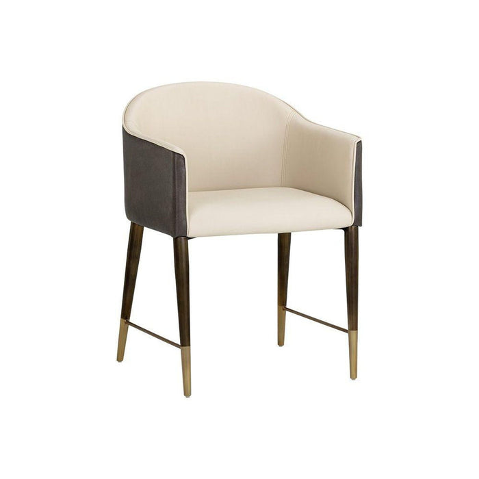 Sunpan Kylin Chair - Dillon Cream / Bravo Ash
