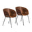 Euro Style Zach Arm Chair - Set of 2