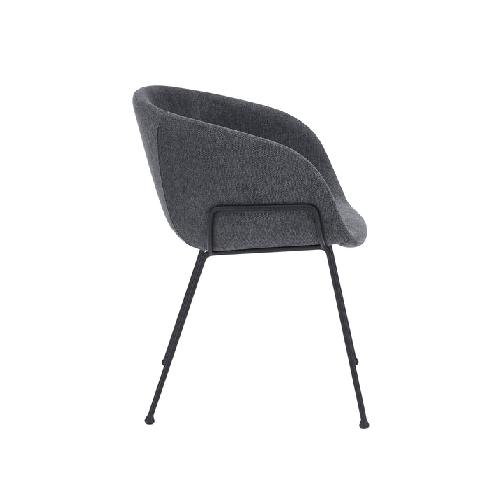 Euro Style Zach Arm Chair in Velvet Fabric - Set of 2