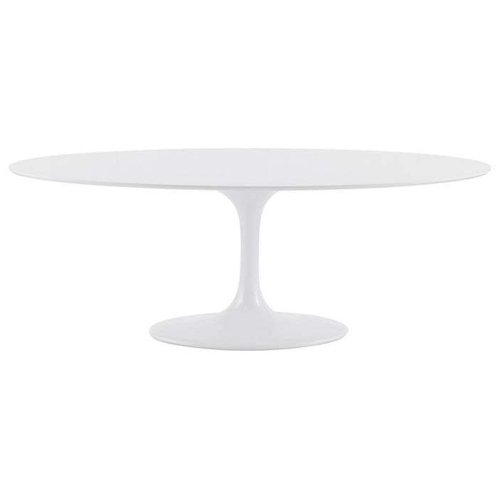 "Euro Style Astrid 79"" Oval Dining Table"