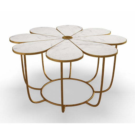 TOV Flower Marble Cocktail Table