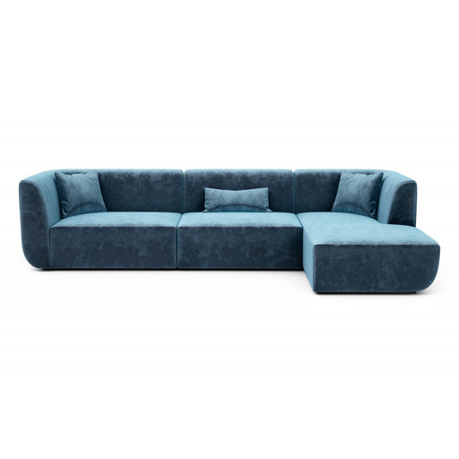 Huppe Brooklyn Right Side Chaise Sectional (Velluto Fabric 1)