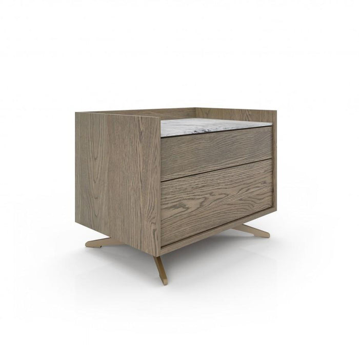 Huppe Memento Large Nightstand (Oak Finish)