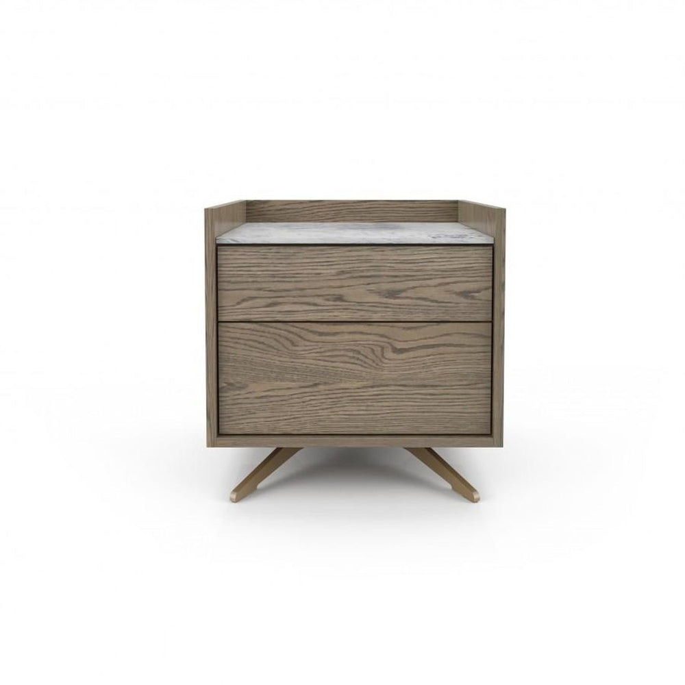 Huppe Memento Small Nightstand  (Lacquered Steel Finish)