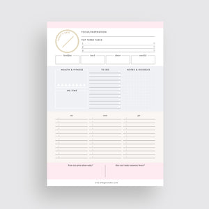 Multi-Color Daily Planner
