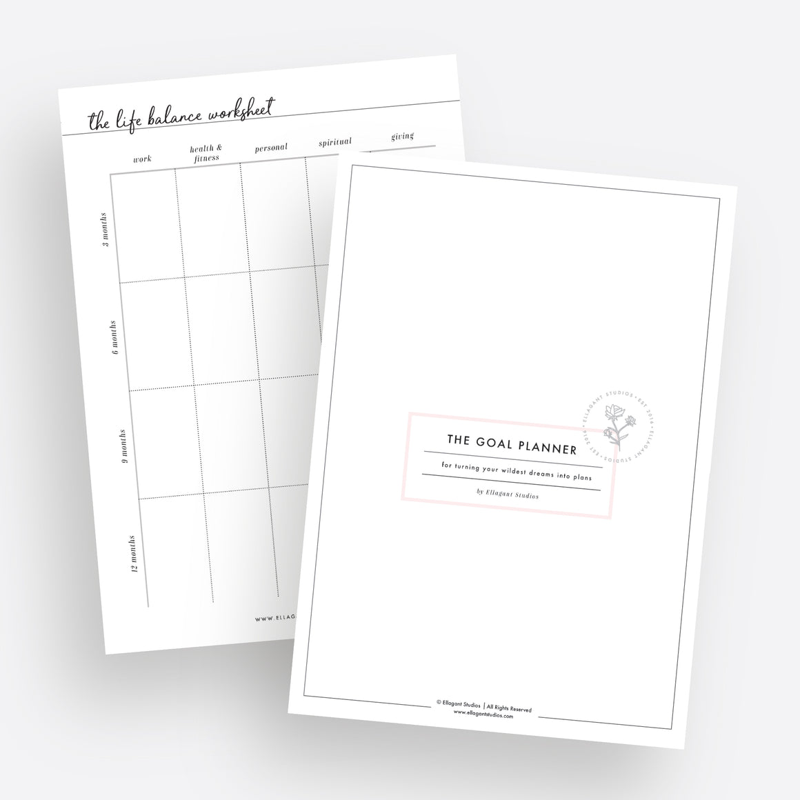 The Goal Planner Pack