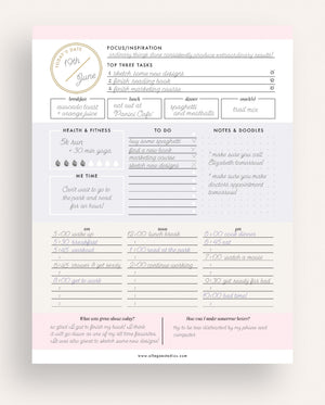 Daily Planner - Instant Download