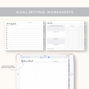Undated Yearly Digital Planner - Horizontal