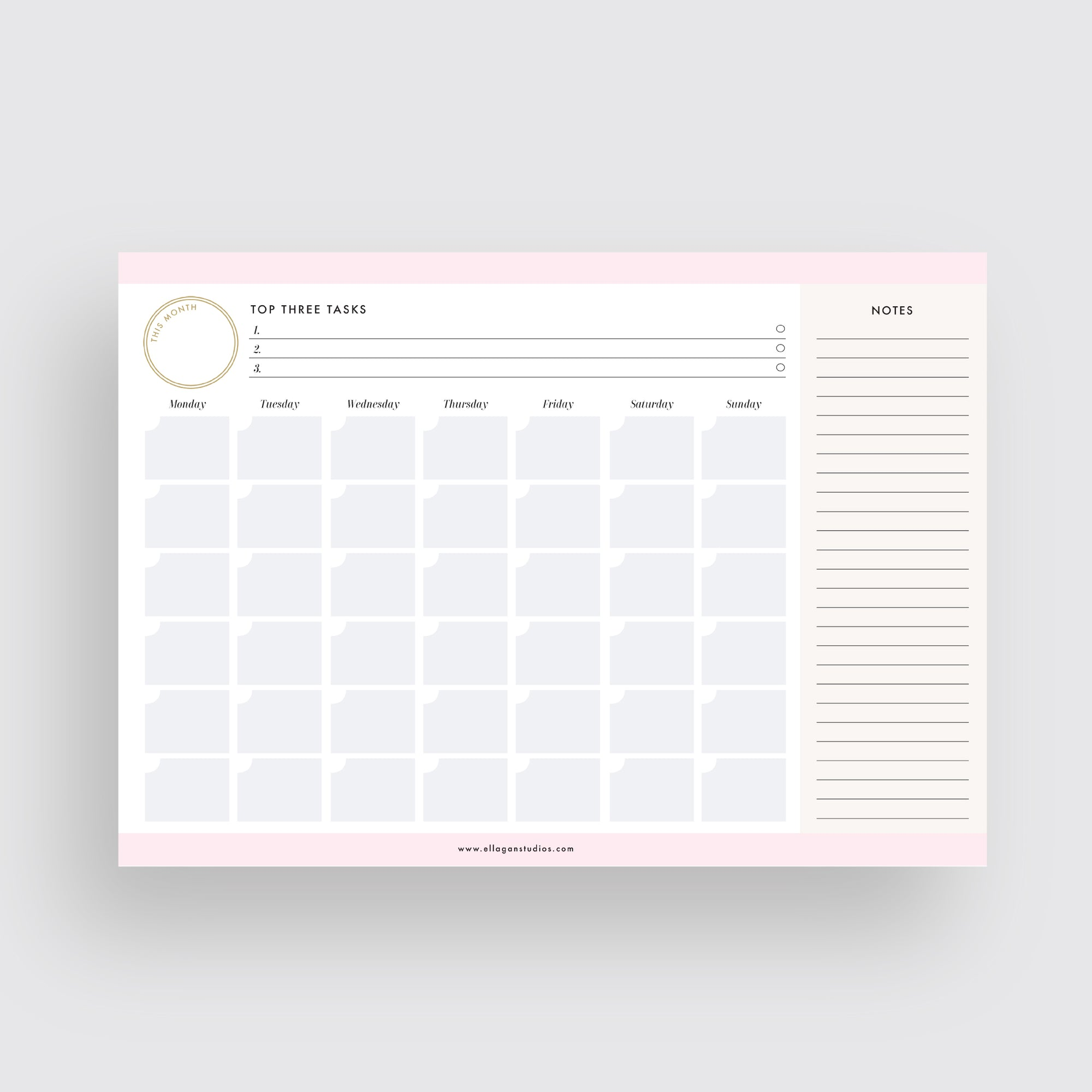 Multi-Color Monthly Planner