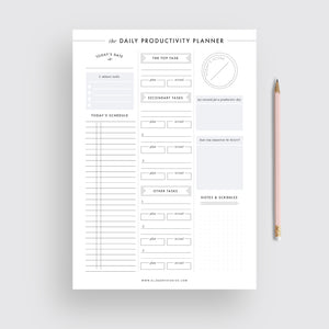 Daily Productivity Planner - Instant Download