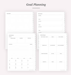 Undated Portrait Planner