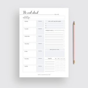 Weekly Planner - Instant Download