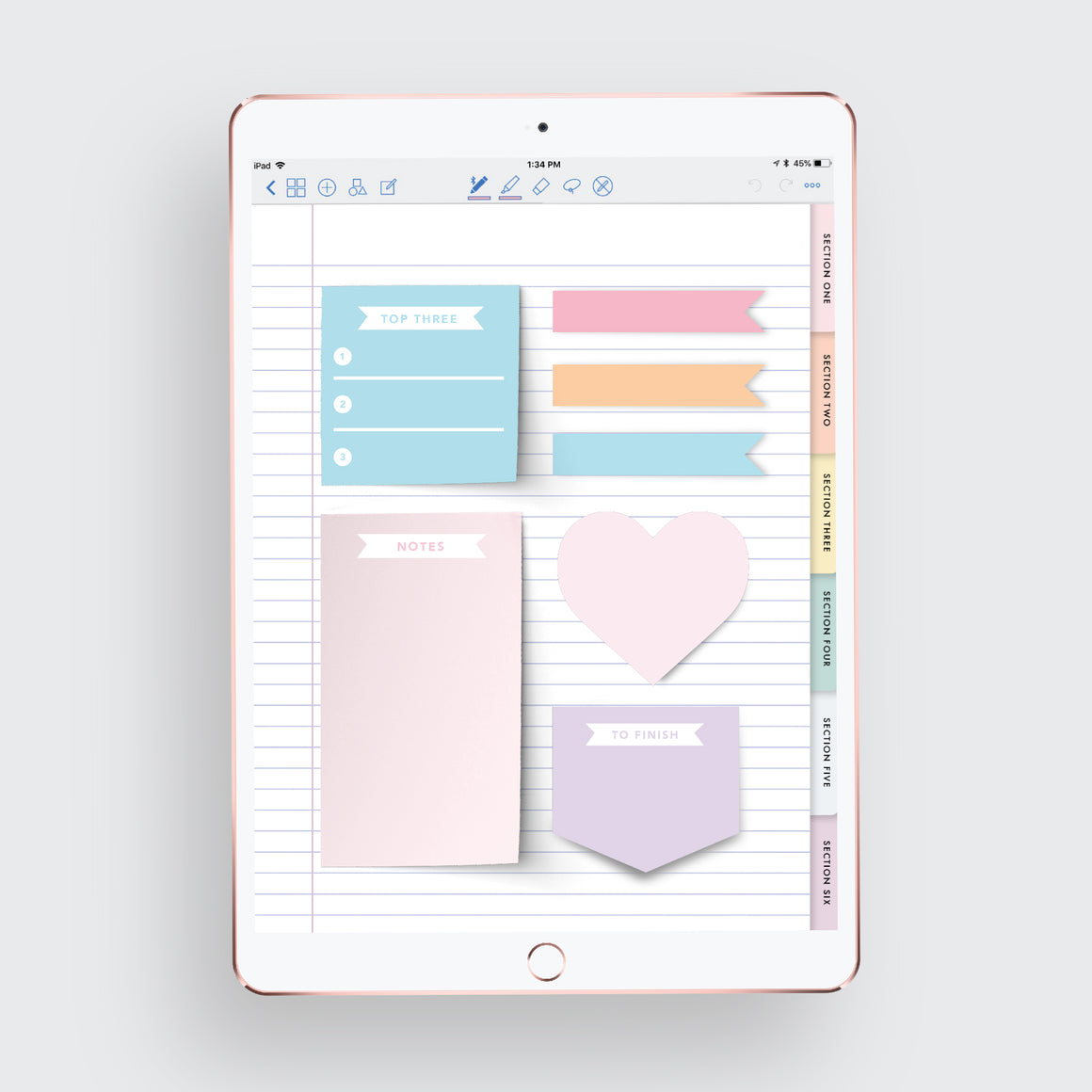 Digital Sticky Note Set