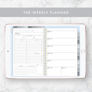 Undated Yearly Digital Planner - Grey