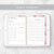 Undated Yearly Digital Planner - Pink