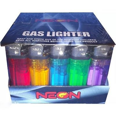 Neon 50ct. Clear Lighter Display