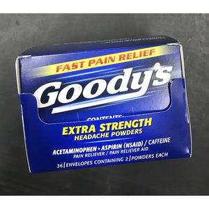 GOODY'S ES POWDER 2PK DISPLAY