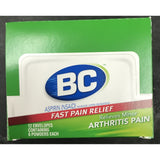 BC FAST PAIN RELIEF ARTHRITIS PAIN 6ct DISPLAY