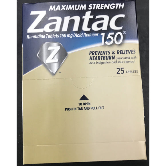 Zantac 150mg 25 Tablet Display