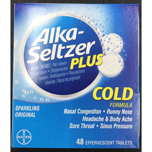 Alka-Seltzar Plus Cold Formula - 48ct Display