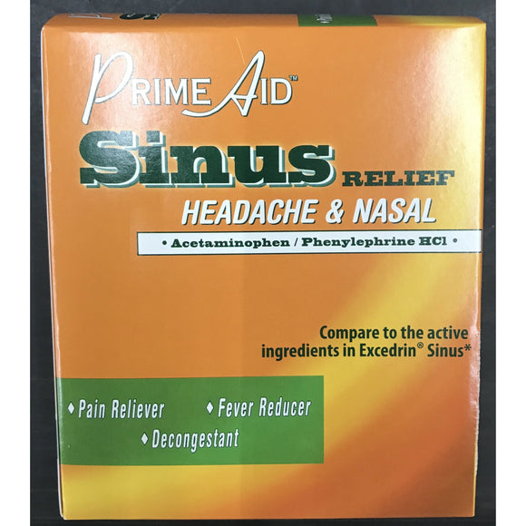 Prime Aid Sinus Relief 100pk Display