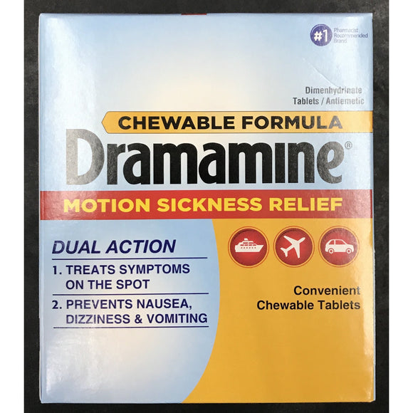 DRAMAMINE MOTION SICKNESS RELIEF 50ct DISPLAY