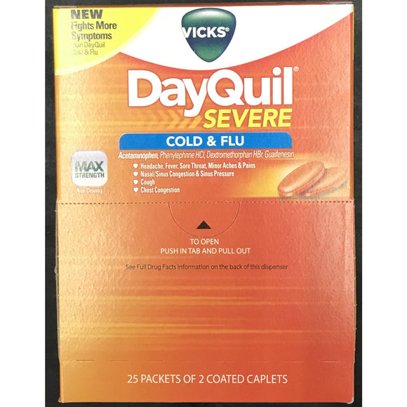 DAYQUIL SEVER COLD & FLU 50ct Display