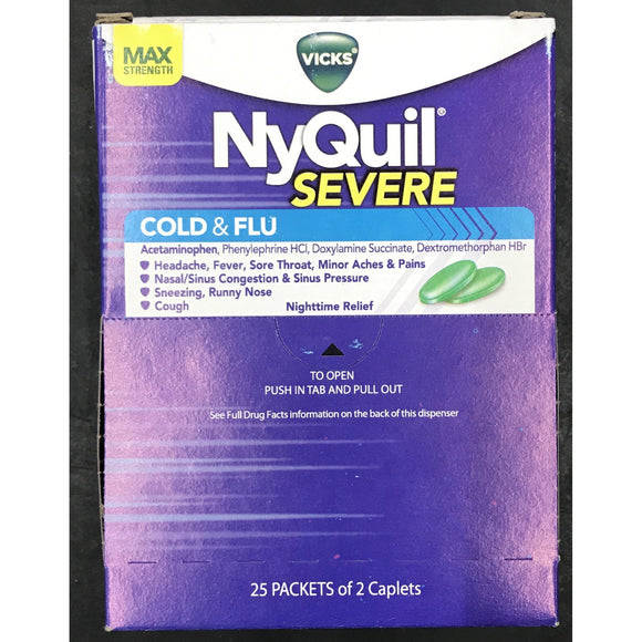 NYQUIL SEVERE COLD & FLU 50ct Display