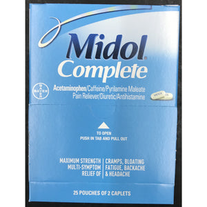 Midol Complete 50ct. Display