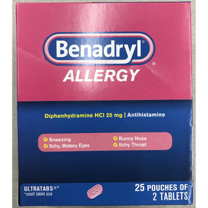 Benadryl Allergy 50ct Display