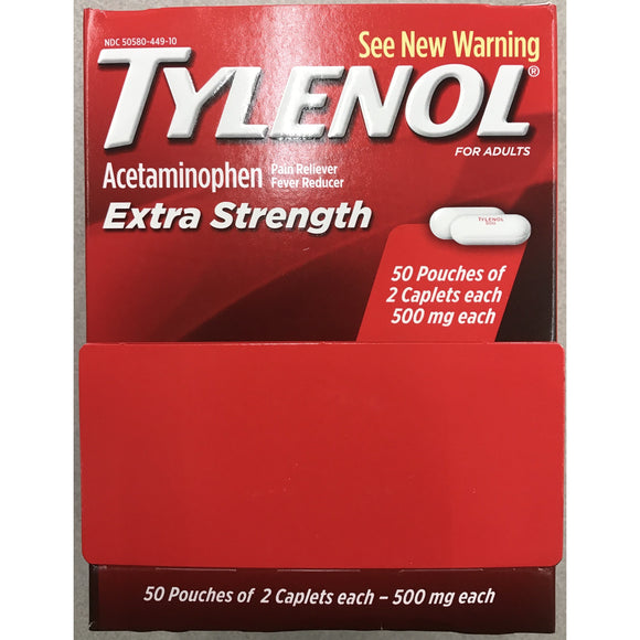 Tylenol Extra Strength 100ct Display