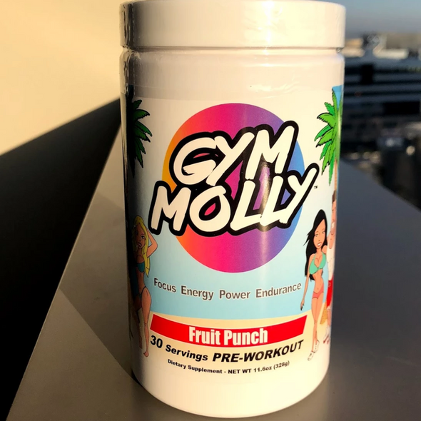 Gym Molly Fruit Punch Bottle