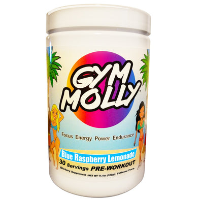 Gym Molly Blue Raspberry Lemonade Caffeine Free