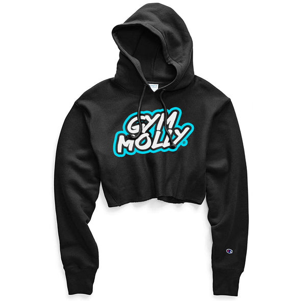 Gym Molly Champion Crop Top Hoodie Sweatshirt