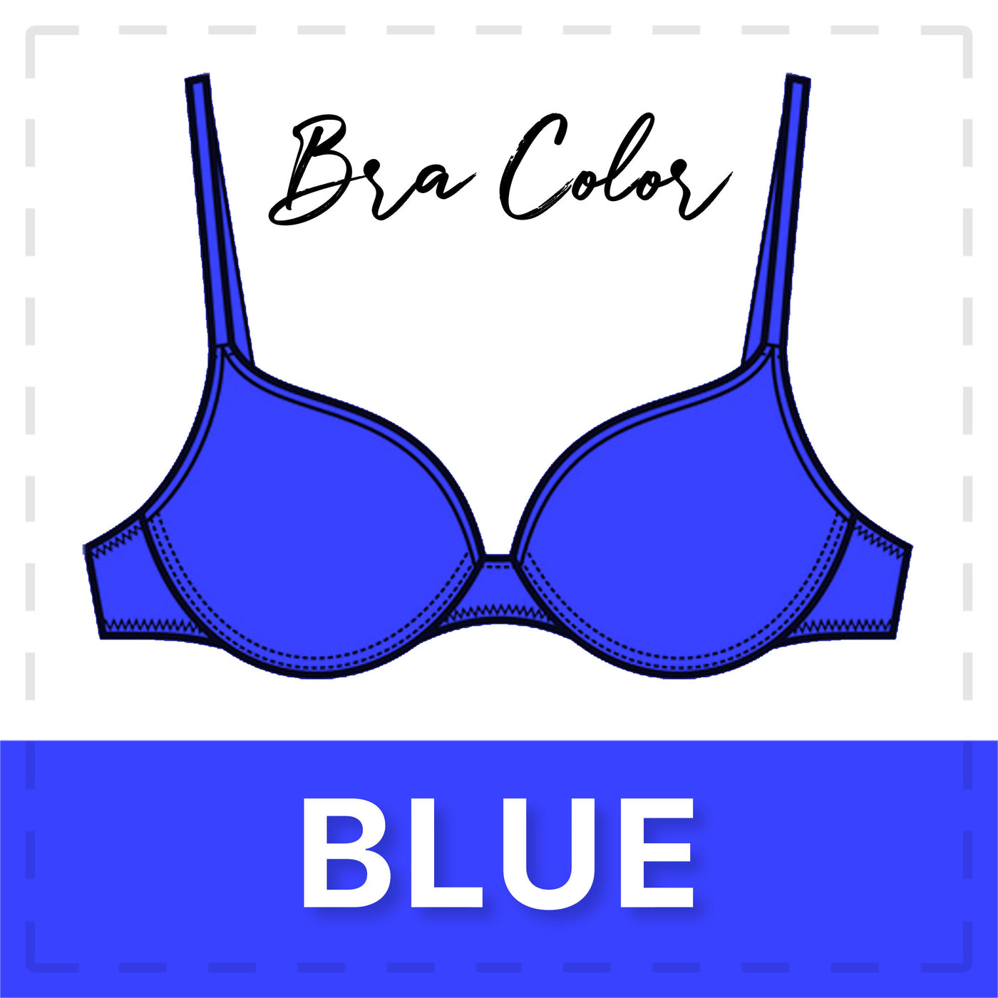 Blue Bra Color