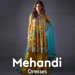 Mehandi Dresses Online Shopping in Pakistan