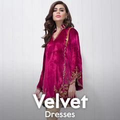 Velvet Dresses Online Shopping in Pakistan