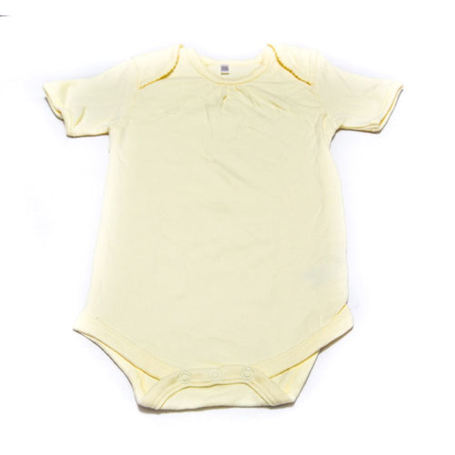 Newborn Baby Girls Romper Bodysuit For 18 To 24 Month Kids – Yellow - Romper - diKHAWA Online Shopping in Pakistan